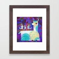 ALPACA PERCH Framed Art Print