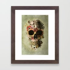 Garden Skull Light Framed Art Print