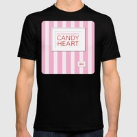 my favorite color is candy heart Mens Fitted Tee Black SMALL