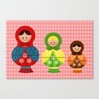 Matrioskas (Russian dolls) Canvas Print