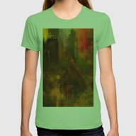 Pyramidal City Womens Fitted Tee Grass SMALL