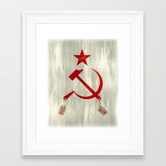 Communism vs. Capitalism Framed Art Print