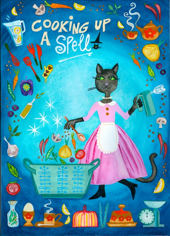 Cooking Up A Spell Art Print
