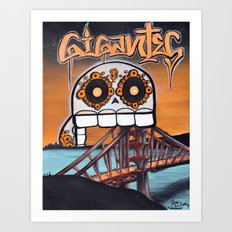 SF Gigantes by Adam Valentino  Art Print