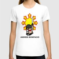 16-bit Andres Bonifacio Womens Fitted Tee White SMALL