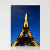 eiffel Stationery Cards featuring Eiffel by Heather Hartley