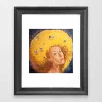 Yellow Selfportrait  Framed Art Print