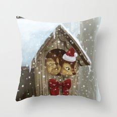 Christmas Squirrel  Throw Pillow