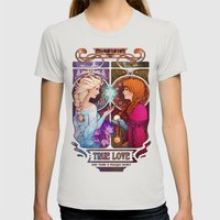 Let Me In - quote version Womens Fitted Tee Silver SMALL