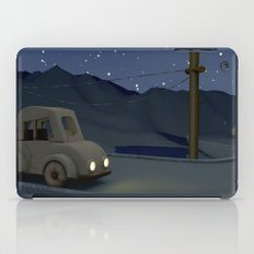 Two cars racing for the prize iPad Case