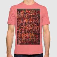 GLYPHS OF XANADU5 Mens Fitted Tee Pomegranate SMALL