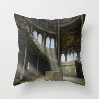 Sacrifices Temple Throw Pillow