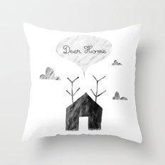 Deer Home Throw Pillow