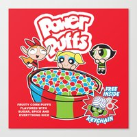 Power Puffs Cereal Canvas Print