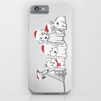 iPhone & iPod Case featuring Christmas Dogs by Li Kim Goh