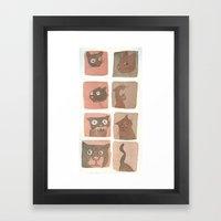 Expressive Cats Framed Art Print