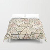 Pattern Houses Duvet Cover