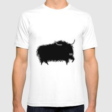 The Yak Mens Fitted Tee White SMALL