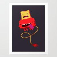 Red Toast Art Print