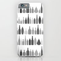 Bottles Black and White on White iPhone 6 Slim Case