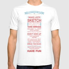 29 Ways to Stay Creative White Mens Fitted Tee SMALL