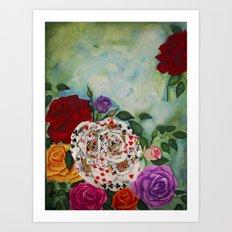 Rose of Cards Art Print