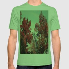 Fall Fire Mens Fitted Tee Grass SMALL