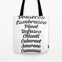 Italian wines Tote Bag