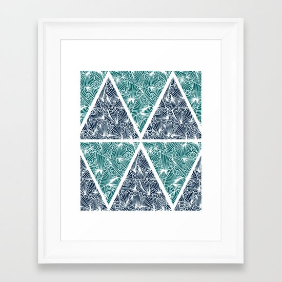 Geometric Paradise Framed Art Print