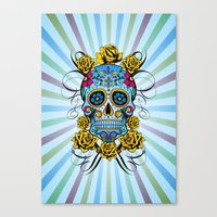 Sugar Skull- Day Of The … Canvas Print