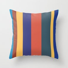 Color Band 70's - B - Stripe Throw Pillow