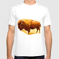 Syncerus Caffer Mens Fitted Tee White SMALL
