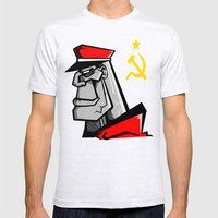 For Russia Mens Fitted Tee Ash Grey SMALL