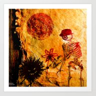 Meeting At Moonlight Art Print