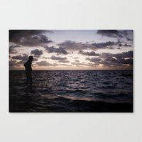 In the Water Canvas Print