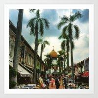 Colors of Singapore Art Print