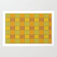 Hob Nob Orange Quarters Art Print