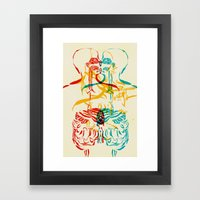 Diagram Of A Kiss Framed Art Print