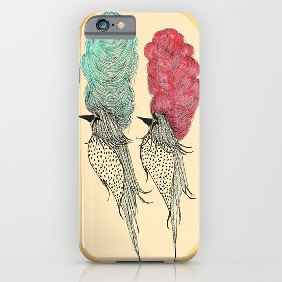 Bouffant Birds iPhone & iPod Case