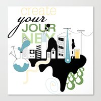 Create Your Journey - Ty… Canvas Print