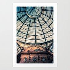 Faded Memories: Galleria Vittorio Emmanuel II, Milan Art Print