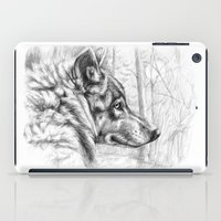 Wolf in woods G082 iPad Case