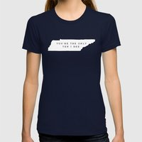 Ten I See Womens Fitted Tee Navy SMALL