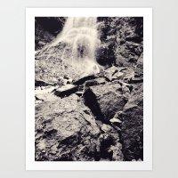 Water fall, Colorado Art Print