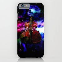 iPhone Cases featuring violin nebula by seb mcnulty