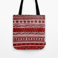 Yzor Pattern 005 Red Tote Bag