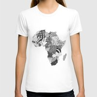 africa T-shirts featuring Africa by Kacenka