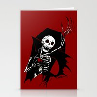 Death Of Dracula Stationery Cards