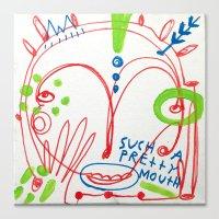 Such a pretty mouth Canvas Print