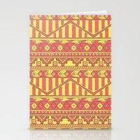 Aztec duo color pattern Stationery Cards